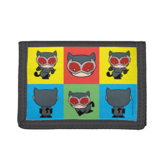 Chibi Catwoman Character Poses Tri-fold Wallets