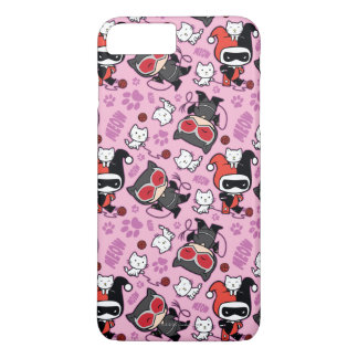 Chibi Catwoman, Harley Quinn, & Kittens Pattern iPhone 7 Plus Case
