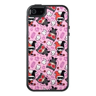 Chibi Catwoman, Harley Quinn, & Kittens Pattern OtterBox iPhone 5/5s/SE Case