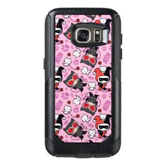 Chibi Catwoman, Harley Quinn, & Kittens Pattern OtterBox Samsung Galaxy S7 Case