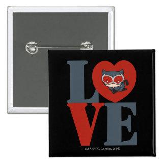 Chibi Catwoman LOVE 15 Cm Square Badge