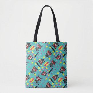 Chibi Catwoman Pattern Tote Bag