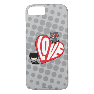 Chibi Catwoman Pounce on Batman iPhone 8/7 Case