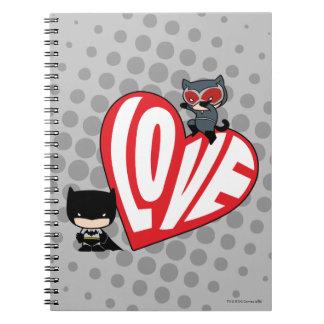Chibi Catwoman Pounce on Batman Notebooks