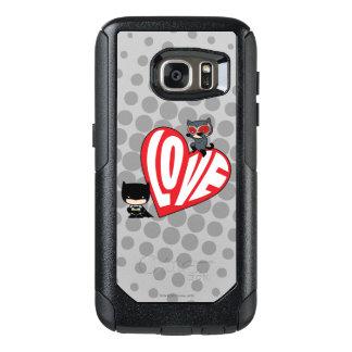 Chibi Catwoman Pounce on Batman OtterBox Samsung Galaxy S7 Case