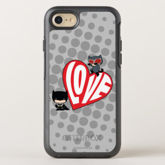 Chibi Catwoman Pounce on Batman OtterBox Symmetry iPhone 8/7 Case