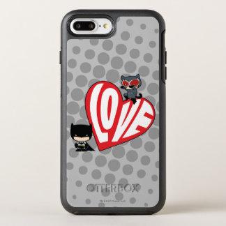 Chibi Catwoman Pounce on Batman OtterBox Symmetry iPhone 8 Plus/7 Plus Case
