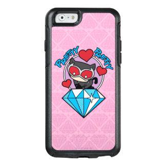 Chibi Catwoman Sitting Atop Large Diamond OtterBox iPhone 6/6s Case