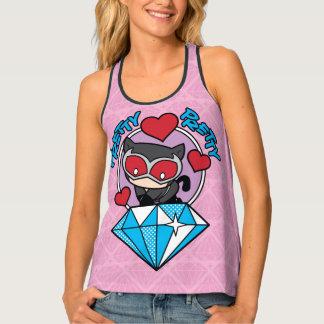 Chibi Catwoman Sitting Atop Large Diamond Singlet