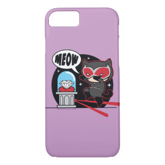 Chibi Catwoman Stealing A Diamond iPhone 7 Case