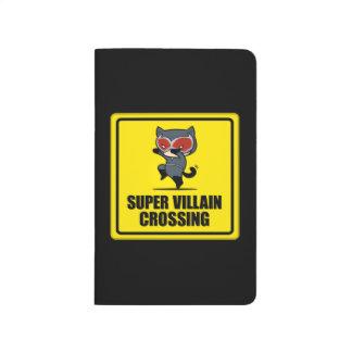 Chibi Catwoman Super Villain Crossing Sign Journal