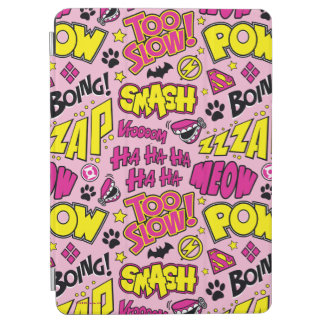 Chibi Comic Phrases and Logos Pattern iPad Air Cover