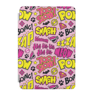 Chibi Comic Phrases and Logos Pattern iPad Mini Cover