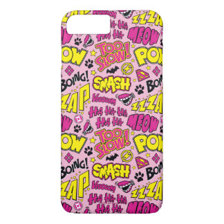 Chibi Comic Phrases and Logos Pattern iPhone 8 Plus/7 Plus Case