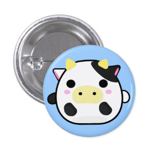 Chibi Cow 3 Cm Round Badge