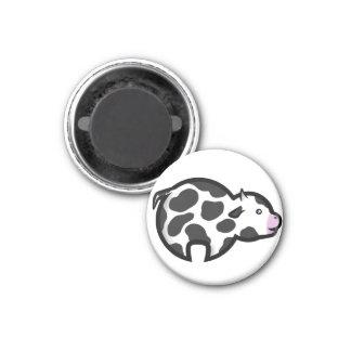 Chibi Cow 3 Cm Round Magnet