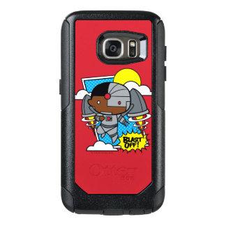 Chibi Cyborg Blast Off! OtterBox Samsung Galaxy S7 Case