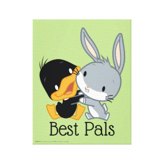 Chibi DAFFY DUCK™ & BUGS BUNNY™ Canvas Print