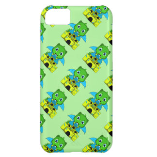 Chibi Dragon With A Blue And Yellow Castle iPhone 5C Case