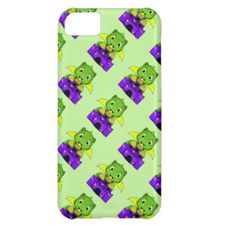 Chibi Dragon With A Yellow And Purple Castle Cover For iPhone 5C
