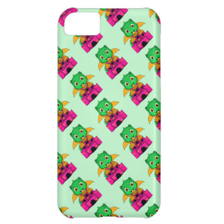 Chibi Dragon With An Orange And Pink Castle Cover For iPhone 5C