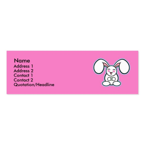 Chibi Easter Bunny - Pink Business Card