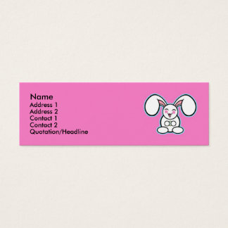 Chibi Easter Bunny - Pink Mini Business Card