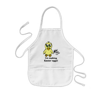 Chibi Easter CHICK, I'm making Easter eggs! Kids Apron
