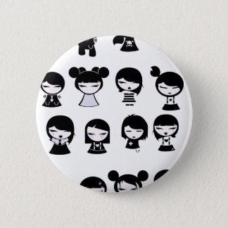 Chibi Emo Goth 6 Cm Round Badge
