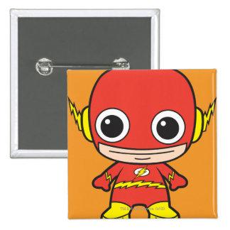 Chibi Flash 15 Cm Square Badge
