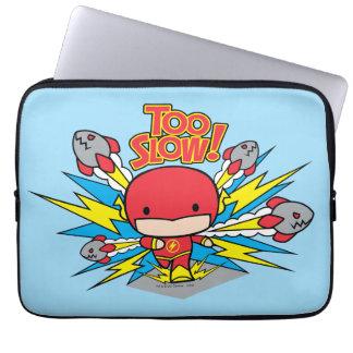 Chibi Flash Outrunning Rockets Laptop Sleeve