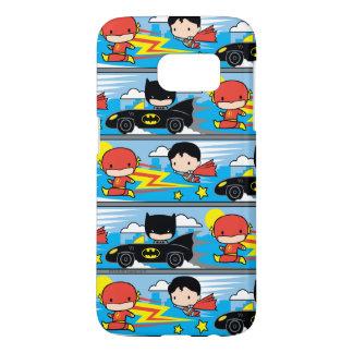 Chibi Flash, Superman, and Batman Racing Pattern
