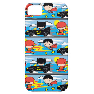 Chibi Flash, Superman, and Batman Racing Pattern Case For The iPhone 5