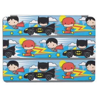 Chibi Flash, Superman, and Batman Racing Pattern iPad Air Cover
