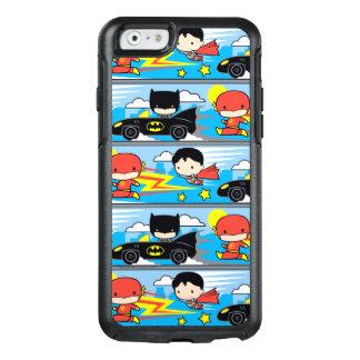 Chibi Flash, Superman, and Batman Racing Pattern OtterBox iPhone 6/6s Case