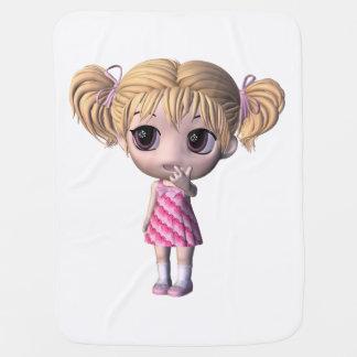Chibi Girl Baby Blanket