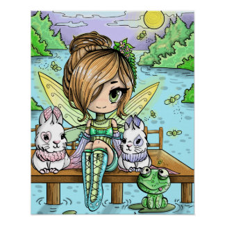 Chibi Girl Fairy Poster