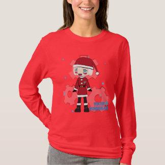 Chibi Girl in Santa Suit T-Shirt
