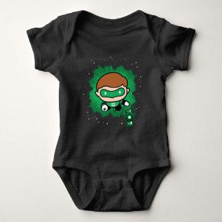 Chibi Green Lantern Flying Through Space Baby Bodysuit