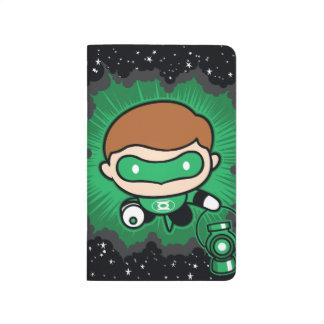 Chibi Green Lantern Flying Through Space Journal