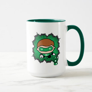 Chibi Green Lantern Flying Through Space Mug