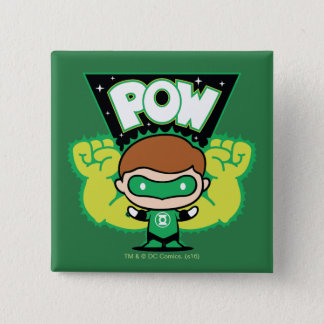 Chibi Green Lantern Forming Giant Fists 15 Cm Square Badge