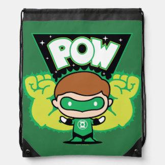 Chibi Green Lantern Forming Giant Fists Drawstring Bag
