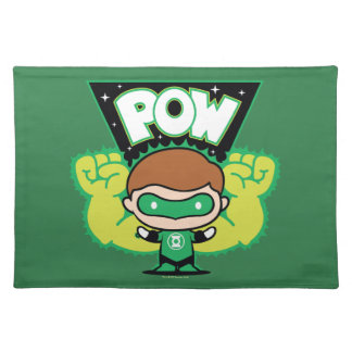 Chibi Green Lantern Forming Giant Fists Placemat