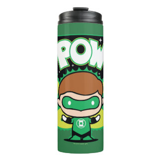 Chibi Green Lantern Forming Giant Fists Thermal Tumbler