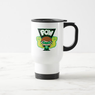 Chibi Green Lantern Forming Giant Fists Travel Mug