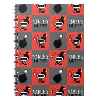 Chibi Harley Quinn Checker Pattern Notebooks