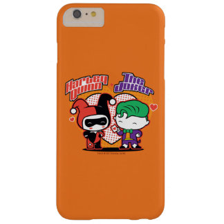 Chibi Harley Quinn & Chibi Joker Hearts Barely There iPhone 6 Plus Case