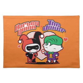 Chibi Harley Quinn & Chibi Joker Hearts Place Mats