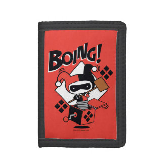 Chibi Harley-Quinn-In-A-Box With Hammer Tri-fold Wallets